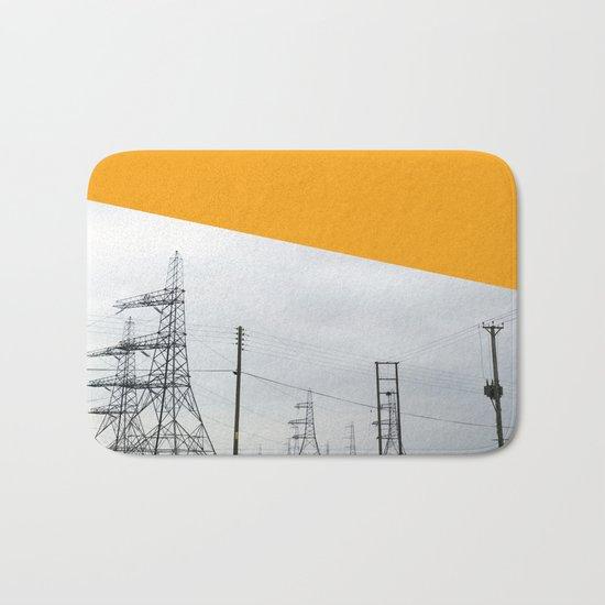 Orange Pylons Bath Mat