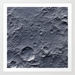Moon Surface Art Print