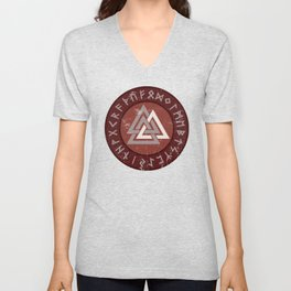 Valknut | Viking Warrior Symbol Triangle Unisex V-Neck