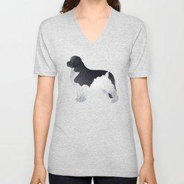 Newfoundland Dog Unisex V-Neck