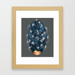 Birdhair Framed Art Print