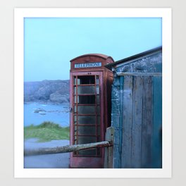 The lonely Telephone Box Art Print