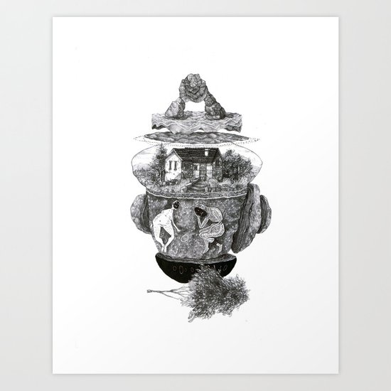 house, and things Art Print