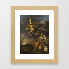 Alessandro Magnasco, called il Lissandrino GENOA 1667 - 1749 HAGAR AND THE ANGEL Framed Art Print
