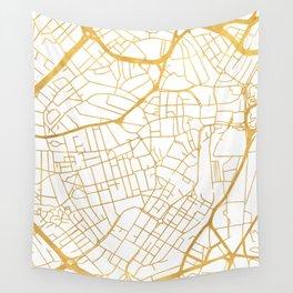 SHEFFIELD ENGLAND CITY STREET MAP ART Wall Tapestry