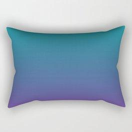 Ombre | Color Gradients | Gradient | Two Tone | Teal | Purple | Rectangular Pillow