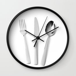 Fork, knife and spoon Wall Clock