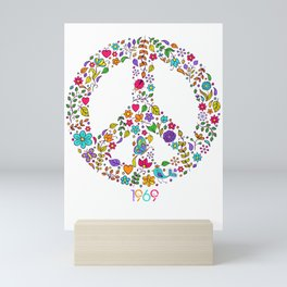 Cool Peace Tees For Boys And Girls Peace And Love 1969 Mini Art Print