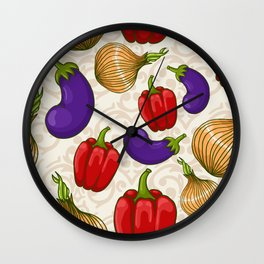 Cute vegetable pattern Wall Clock