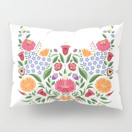 Hungarian folk pattern – Kalocsa embroidery flowers Pillow Sham