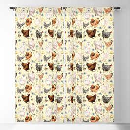 Chickens and Chicory Blackout Curtain