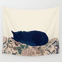 kitty Wall Tapestries featuring Kitty by Anna McKay