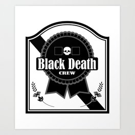 Black Death Ribbon Art Print