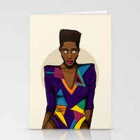 mcfreshcreates Stationery Cards featuring Stare Me Down by McfreshCreates