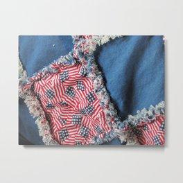 Raggedy Quilt Metal Print