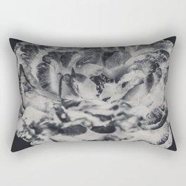Desert Rose in Black and White Rectangular Pillow