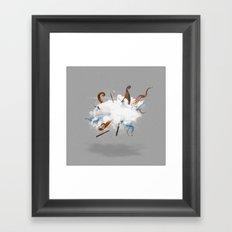 Dust-Ups: Viking vs Kraken Framed Art Print