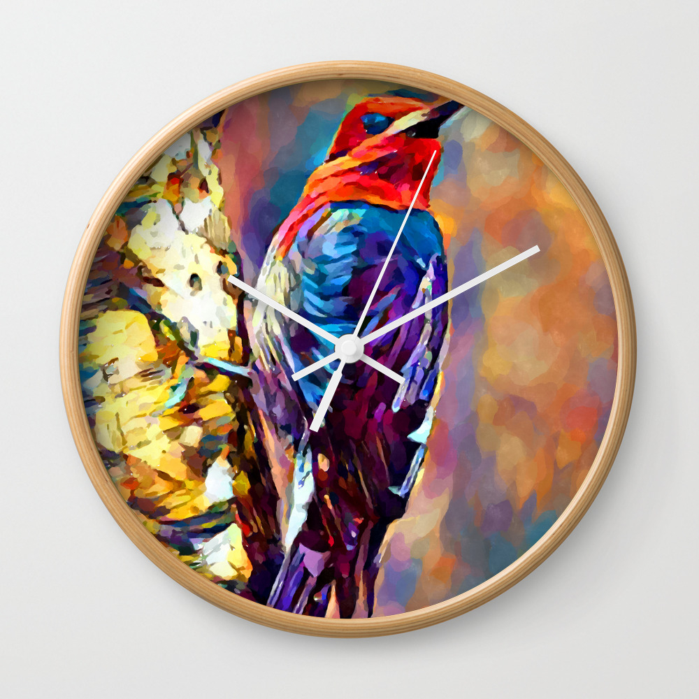 Red-Breasted Sapsucker Wall Clock by shrenk (CLK9010163) photo