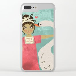 LEDA and the swan Clear iPhone Case