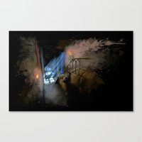 castlevania Canvas Prints featuring Castlevania: Vampire Variations- Hall by LightningArts