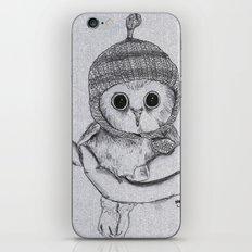 Bobble Hat Owl iPhone & iPod Skin