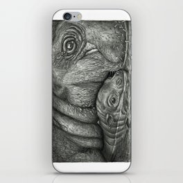 Baby Pygmy Hippo with Mother - Vulpecula iPhone Skin