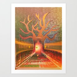 New Year in The Smart City Art Print