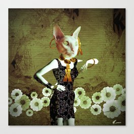 Cat wear by Annabellerockz Canvas Print