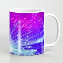 Colorful Glowing Blue and Purple Lights. Coffee Mug