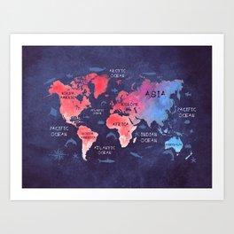 world map 44 Art Print