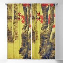 Anata In Red and Gold Blackout Curtain