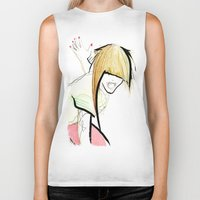girl power Biker Tanks featuring Girl Power by Juan I. Scocozza