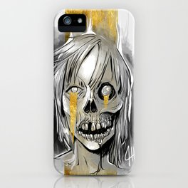 Gold tears iPhone Case