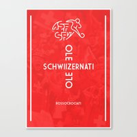 switzerland Canvas Prints featuring Switzerland by liamhohoho