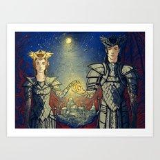 night lord & lady Art Print