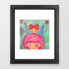 Confused day Framed Art Print