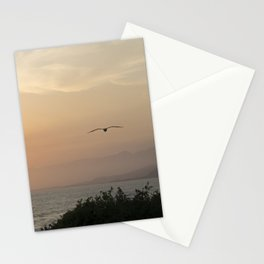 PCH: Santa Barbara to LA Gull at Sunset Stationery Cards