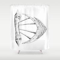 dublin Shower Curtains featuring Dublin, Ireland by Zachary Perry