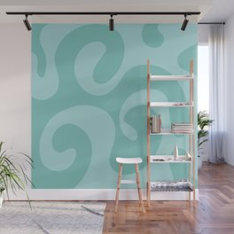 Getting Groovy - Light sea blue Wall Mural