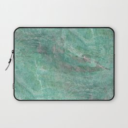 Mossy Woods Green Marble Laptop Sleeve