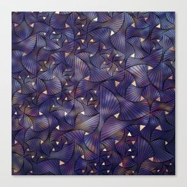 Ultraviolet and Gold Mesh Canvas Print
