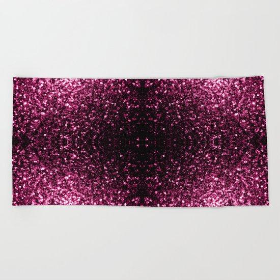 Beautiful Pink glitter sparkles Beach Towel