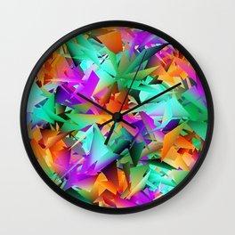 Paper Roses Wall Clock