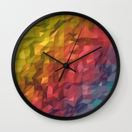 Poly Colours  Wall Clock