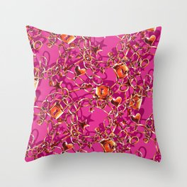 Glam Tack Throw Pillow