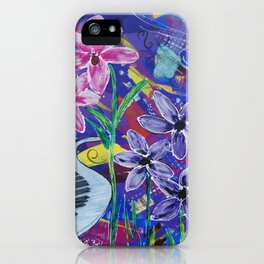 Musical Melodies Acrylic Mixed Media iPhone Case