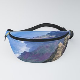 Hawaiian Coastal Cliffs: Aerial View From The Angels Fanny Pack