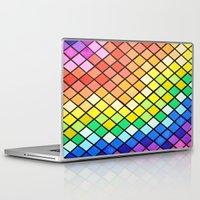 pantone Laptop & iPad Skins featuring Geo-Pantone by Aries Art