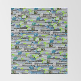 Locomotives - BLS Cargo - by Railcolor Throw Blanket