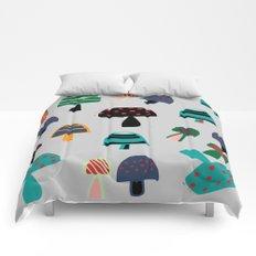 Cute Mushroom gray Comforters